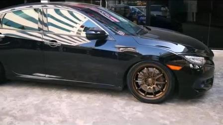 不仅仅是多了一个小尾翼, 实拍黑色海外版本田思域RS