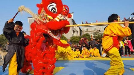 年味回顾: 湖南平江农村过年, 村民自发组织传统舞狮之三仙闹新春