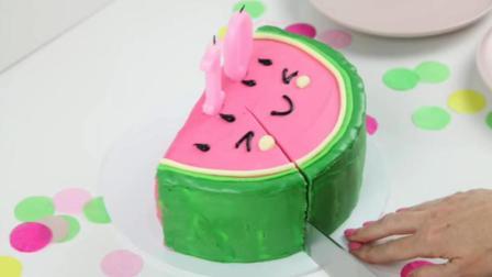 网红蛋糕西瓜太郎, 原来是这样做的, 太神奇了!
