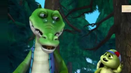 熊出没-鳄鱼给大家讲愚公移山的故事, 连乌龟都听睡着了