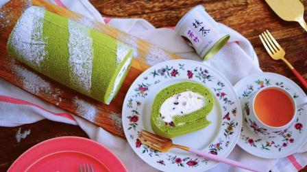 我的日常料理 第一季 超详细步骤教你制作完美的棉花蛋糕卷 抹茶蜜豆棉花蛋糕卷