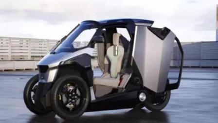 终于不再停车难! 摩托大小汽车问世, 能坐2人, 于国内率先上市!