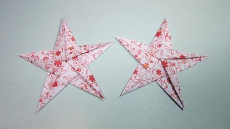 一张纸4分钟折纸五角星, 简单的五角星手工折纸教程