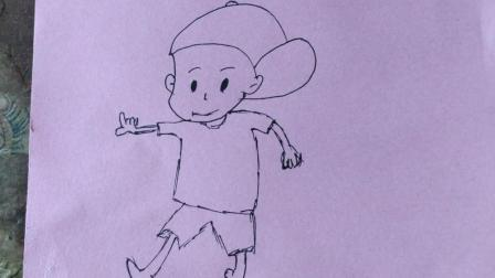 简笔画-男孩