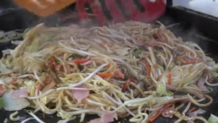 街头小吃铁板炒面, 看上去太好吃了