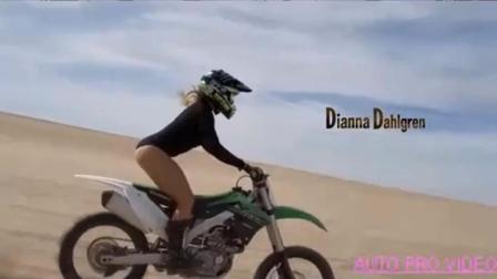 牛人沙漠自由越野摩托特技