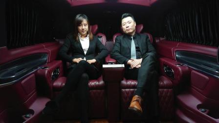这台车只适合坐两人, 前后舱也隔开了, 用于商务接待, 生意必成