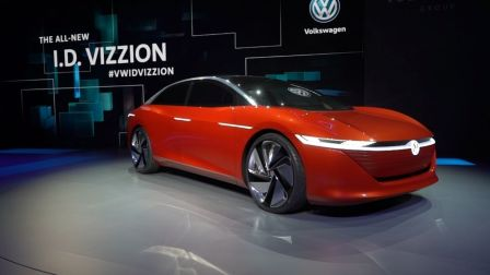 告别内燃机,跟方向盘和油门踏板说再见,日内瓦大众I.D.VIZZION概念车首发-车比得