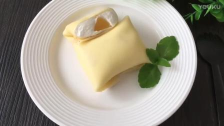 优雅烘焙餐包视频教程 黄桃班戟的制作方法 烘焙理论教程视频教程