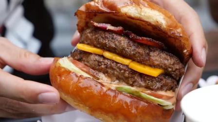【吃遍全球】泰国曼谷最牛的餐车汉堡店, 又大, 肉汁又多