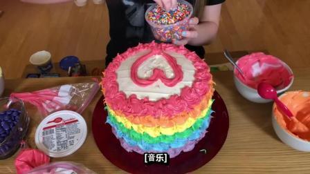 自己动手做一个美味又好看的彩虹蛋糕