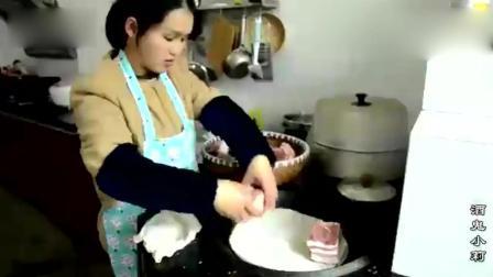过年了五花肉怎么做好吃? 农村姑娘教你一种新做法, 你绝对没吃过
