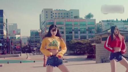 韩国妹子街头混合曳步舞版《Panama》, C哩C哩