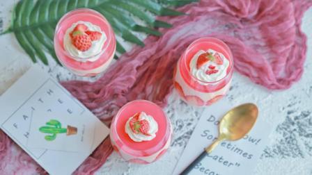 草莓慕斯的高逼格做法, 口感嫩滑, 层次分明, 学会马上变身高级甜品师