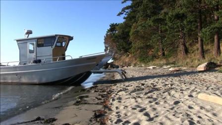 """一艘会""""走路""""的船, 到岸后会伸出脚爬上岸"""