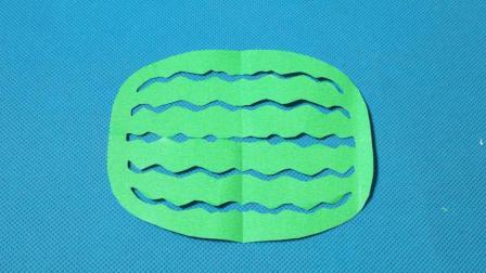 剪纸小课堂: 西瓜3, 儿童喜欢的手工DIY, 动手又动脑