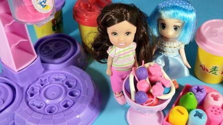 灵犀小乐园之美食小能手 芭比娃娃制作奶油冰淇淋杯
