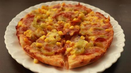 萨拉米培根玉米披萨