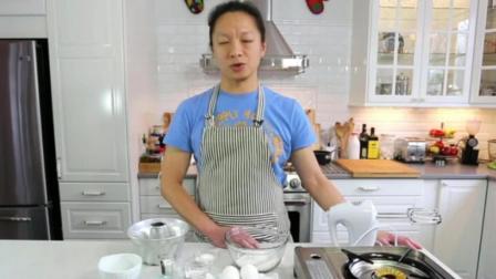 戚风蛋糕6寸配方及做法 正宗无水蛋糕配方 学做蛋糕学费要多少钱