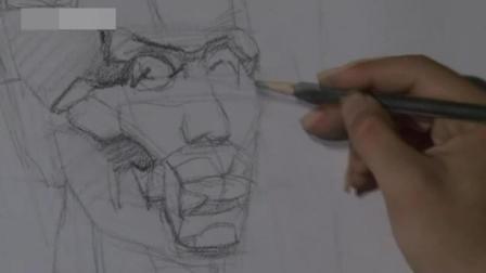手绘动漫人物铅笔画 眼睛素描教程步骤图解 自学素描基本入门图片