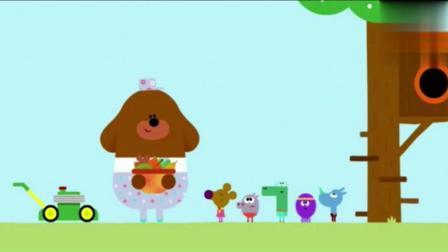 道奇和小动物们做了豪华树屋, 看着好好看啊!