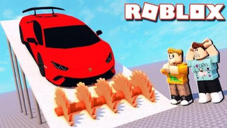 【Roblox汽车摧毁2】超级冰冻切割房间! 摧毁赛车总动员! 小格解说 乐高小游戏