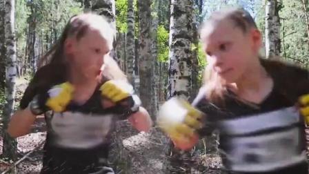 战斗民族萌妹的打拳日常, 这个拳速就你问怕了没?