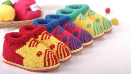 雅馨绣坊棉鞋编织视频第59集小猪小老虎棉鞋后面的织法编织方法教程