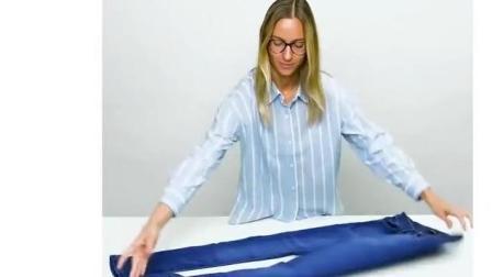 裤子这么叠, 整齐又省空间~超实用!