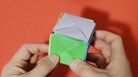儿童折纸视频教程, 手工折纸如何折立方体盒子教程, 美兰儿童折纸大全