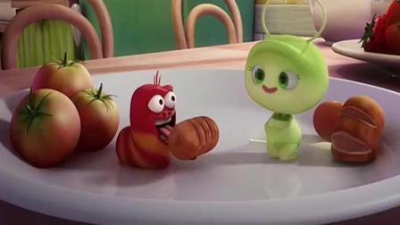 爆笑虫子: 幸福的小黄抱着美人, 可怜坏坏的小红! 惨的好搞笑