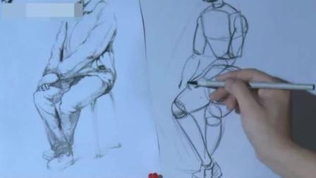 动漫人物速写图片 素描苹果结构解析图 速写人物临摹图