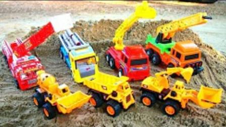 儿童卡车工程车?挖掘机动画片工作视频?压路机 挖掘机视频表演大全 儿童垃圾回收车