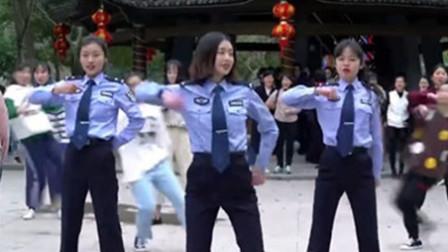 萌呆了!温州女警察跳劲舞玩快闪庆祝三八妇女节