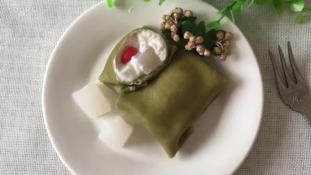 面包烘焙视频教程 椰子抹茶(班戟)热香饼的制作方法 蛋糕烘焙教程
