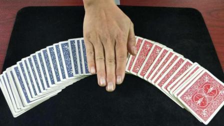 为什么手一摸, 54张牌全部变成蓝色? 原来方法这么简单
