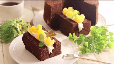 【搬运】又松又软的巧克力戚风蛋糕, 配上各种爱吃的水果, 简直完美!