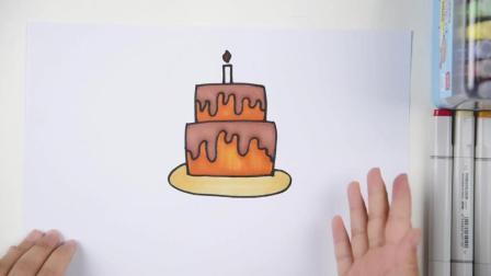 知名幼儿园老师, 手把手教孩子学画生日蛋糕