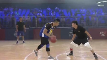 头盔哥VS黑人陈建州 篮球对决 头盔哥是来表演的吗?