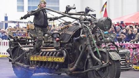 德国老顽童, 造世界最大摩托车, 装苏联坦克引擎, 一般人驾驭不了