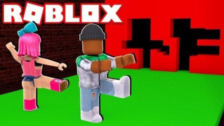 【Roblox穿越墙洞】道具墙洞逃生! 化身小门神爆笑求生! 小格解说 乐高小游戏