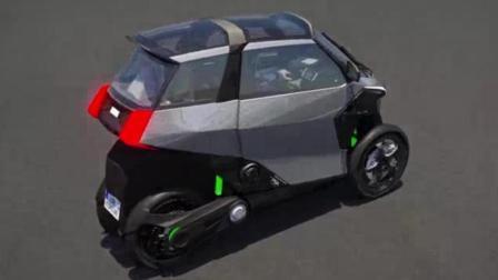 """汽车界又有造出""""新物种"""",比摩托车还灵活,续航300KM还是个混动的"""
