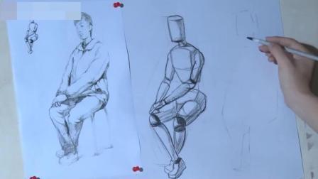 苏州美术培训人物素描自学教程, 素描入门步骤, 免费油画教程初学视频素描半身像