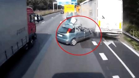 行车记录仪记录的画面, 不敢开车了!