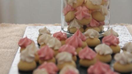 自制少女心爆棚的马林糖, 配上小饼干特别漂亮, 高颜值入口即化