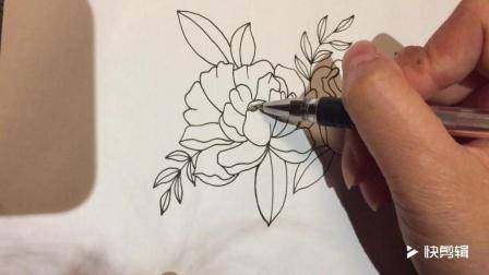 手把手教你简笔画手绘线描花卉