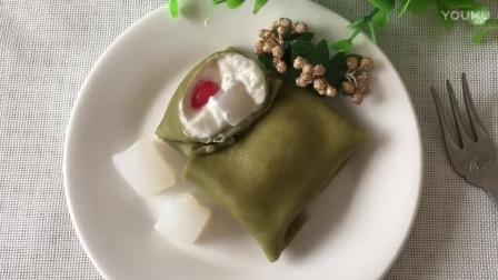 适合初学者的烘焙教程 椰子抹茶(班戟)热香饼的制作方法 烘焙入门面包的做法视频教