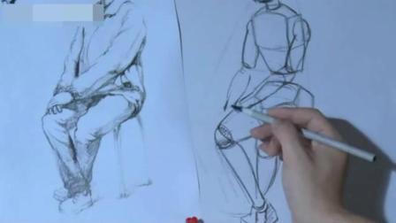 于小冬速写人物图片 速写初学者入门教程 简单动漫铅笔画