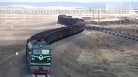 中国著名铁路口岸满洲里实景, 不得不说俄罗斯的火车真长