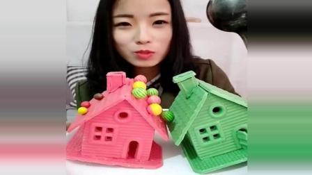 用巧克力做的小房子, 大姐爱吃又会做